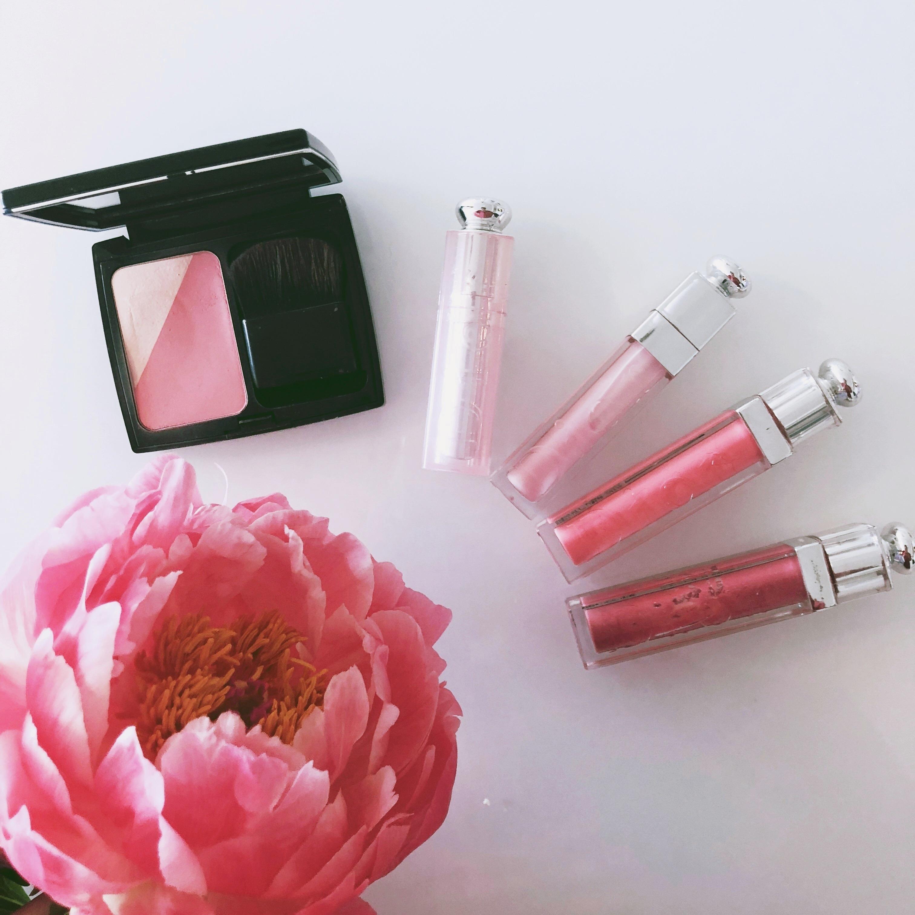 <Dior>ピンクがかわいい♡Diorのチークとリップレビュー